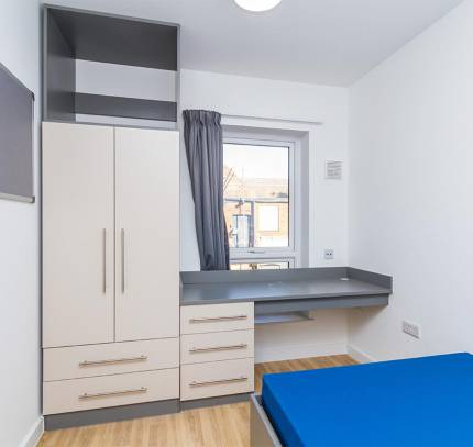 Room at at Lincoln Student Accommodation Scheme