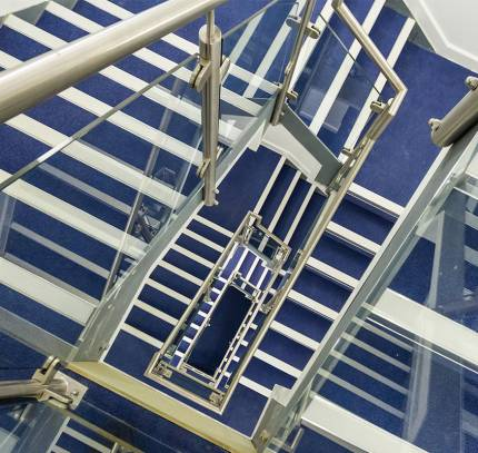 Stair cassettes at Lincoln Student Accommodation Scheme