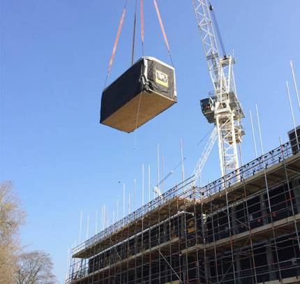 Install of Room Module on Bath Student Accommodation Site