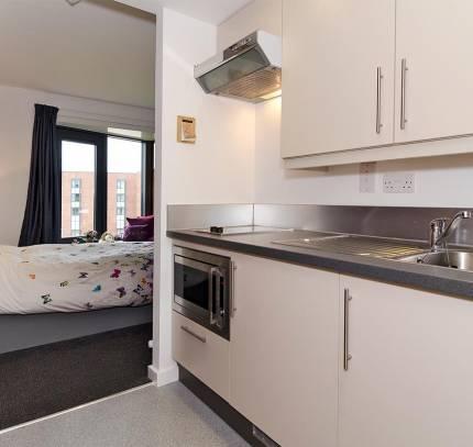 Chester University Student Accommodation - Kitchen Pod