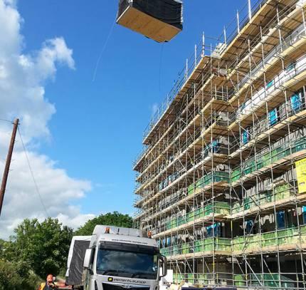 Room module on foundations - Modular hotel