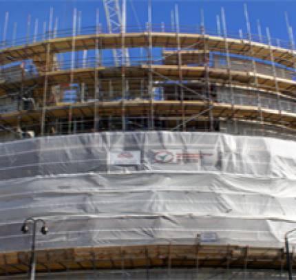 light steel facade building