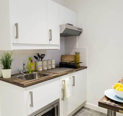 Student Studio Room Pod Kitchen
