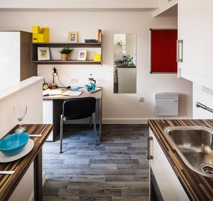 Luton Student Accommodation Kitchen Study