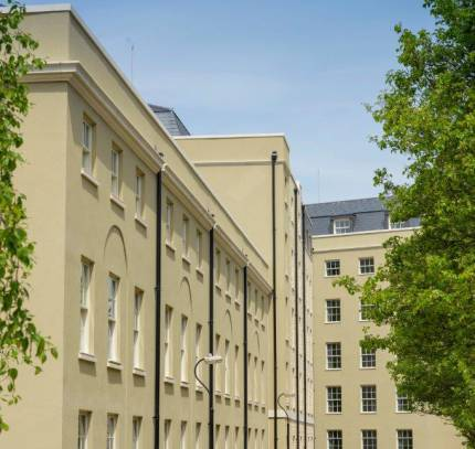 side view of modular student scheme in Bath