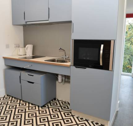 Modular Student Accommodation - Kitchen within a Room Module