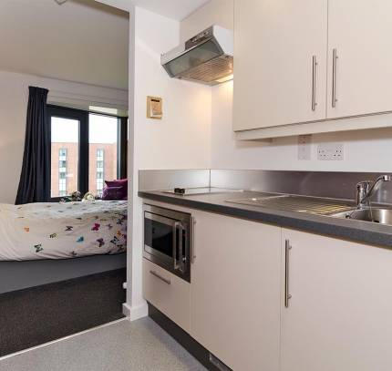 Chester University Student Accommodation - Kitchen Pod