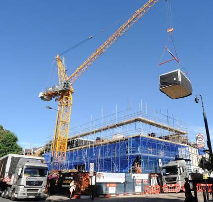 install of modular hotel