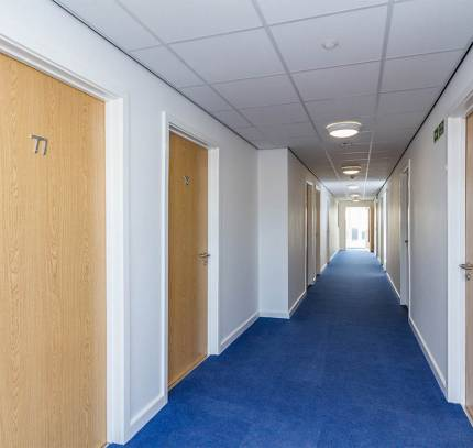 Corridors at Lincoln Student Accommodation Scheme