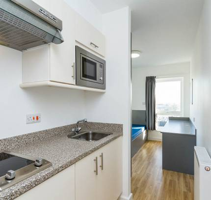 Studio Apartment at Lincoln Student Accommodation Scheme