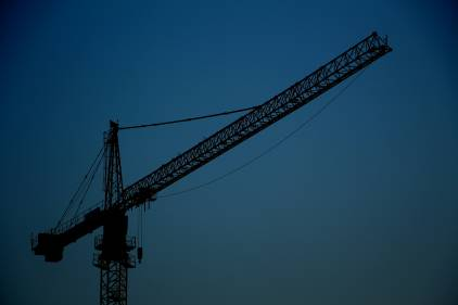 Large crane in modular construction project