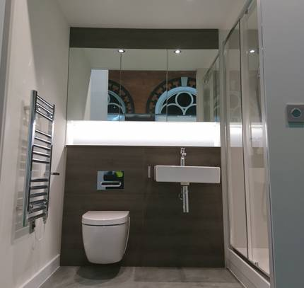 Modular bathroom in co-pod