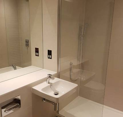 floorless bathroom pod