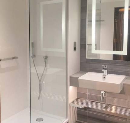 clayton hotel bathroom pod